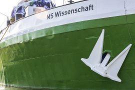 MS Wissenschaft anchored in the Kaisergarten