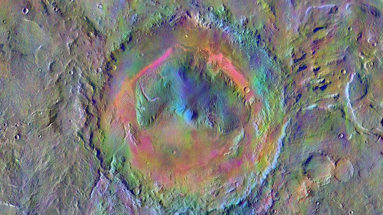 Mars crater was more of a pool than Gale Lake