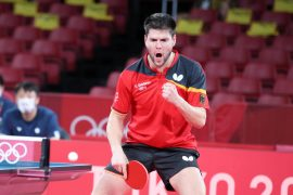 Olympia 2021    Gold in Table Tennis?  It's day 14 in Tokyo.  happens on