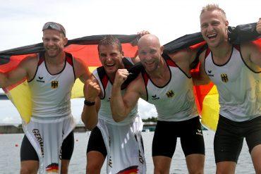 Olympic Games: German men's four-man kayak wins gold