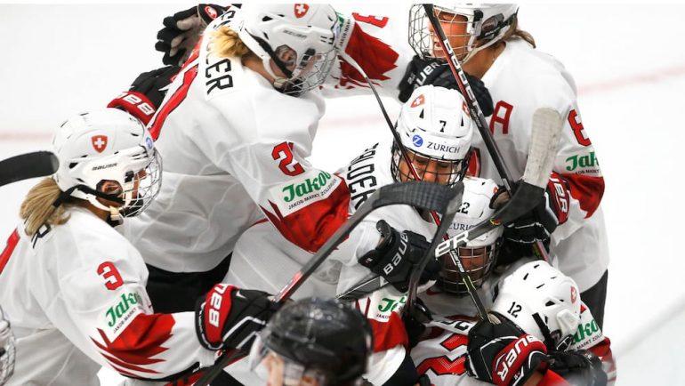 Swiss hockey women create history - see
