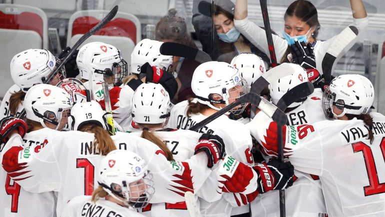 Swiss women's national team ahead of historic World Cup semi-final against Canada