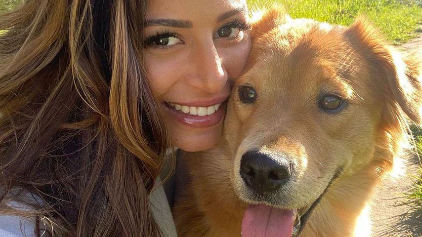 Eva Benneteau with her dog Shekha