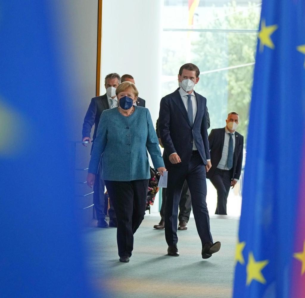 Federal Chancellor Angela Merkel (CDU) receives Austrian Chancellor Sebastian Kurz in the Chancellor