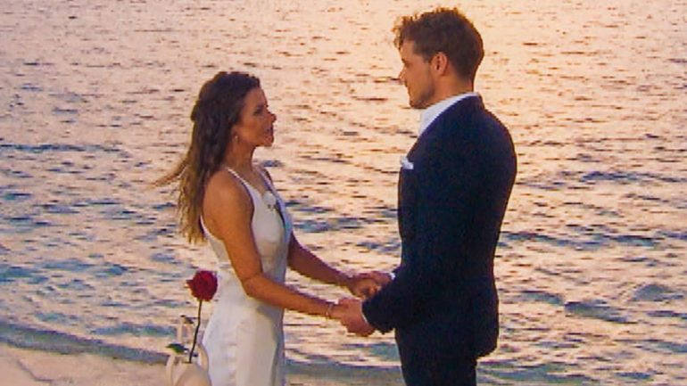 Bachelorette finale: Maxim gives her his last rose - TV