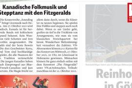 Canadian Folk Music and Tap Dancing with the Fitzgeralds - Vorarlberger Nachrichten