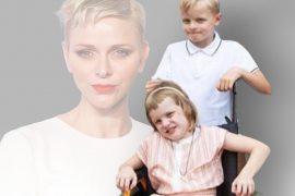 Daughter Gabriella (6) sitting in a wheelchair