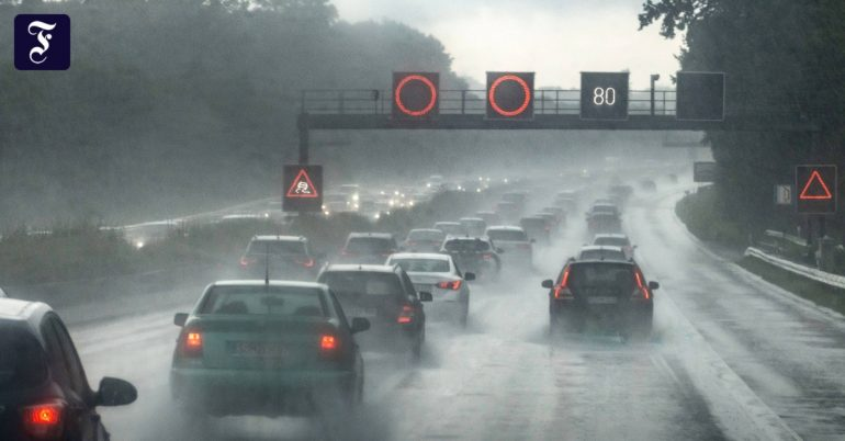 Heavy storm hits the south of France