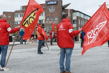 Protest against conversion plans: Alert strike on Airbus |  NDR.de - News