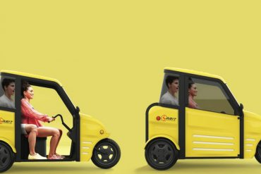 Small Electric Car Sarit: To get to work and back in a one-and-a-half seater