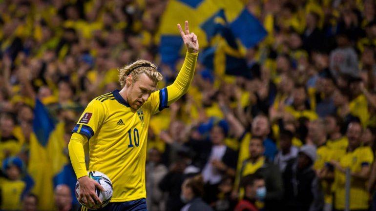 RB Leipzigs Emil Forsberg brachte seine Schweden im WM-Qualispiel gegen den Kosovo auf die Siegerstraße.