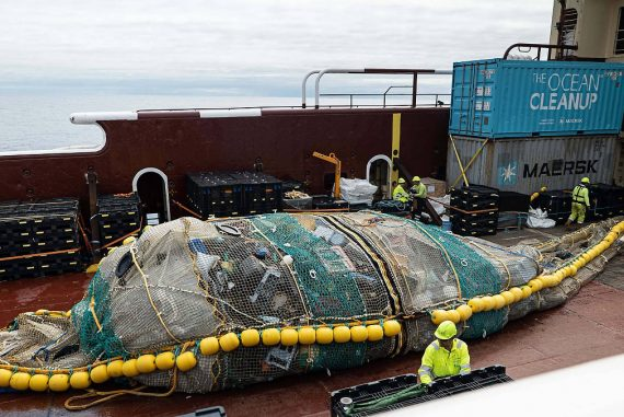 """Success for """"The Ocean Cleanup"""": 29 Tons of Plastic Garbage Collected in the Ocean"""