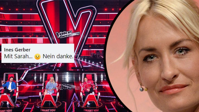 """The Voice of Germany: """"With Sarah? No Thanks"""": Fans Tear Up Sarah Connor's First Juror"""