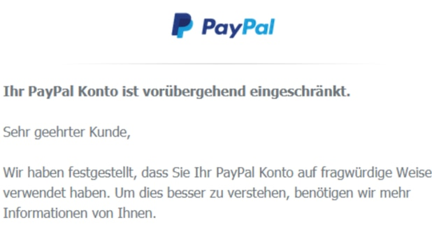 PayPal: Criminals are currently trying to hijack your account again with phishing attacks.